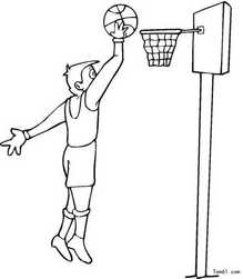 篮球简笔画_